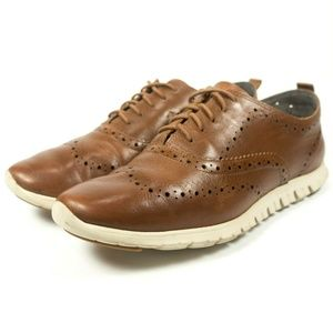 Cole Haan Zerogrand Leather Wingtip Oxford Shoes